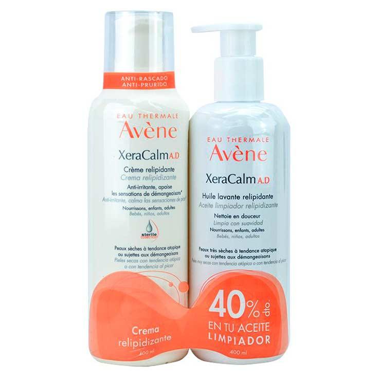 Avène Xeracalm A.D Pack Crema Relipidizante 400 ml + Aceite Limpiador Relipidizante 400 ml
