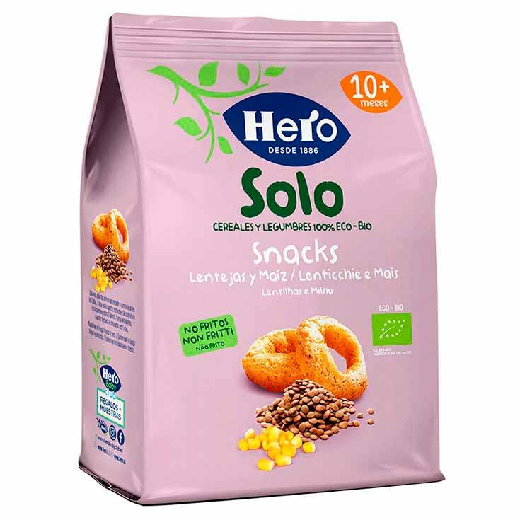Hero Baby ECO Solo Snacks de Lentejas y Maíz Ecológicos 50 g