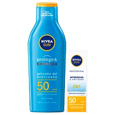 Nivea Sun Protege y Broncea SPF50 200 ml + Antimanchas SPF50 50 ml
