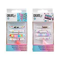 Create it! Pulseras Letras y Perlas Infantiles
