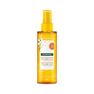 Klorane Polysianes Aceite Seco Solar con Tamanu Bio y Monoi SPF30 - 200 ml
