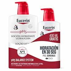 Eucerin Pack Loción Ultraligera 1000 ml + 400 ml