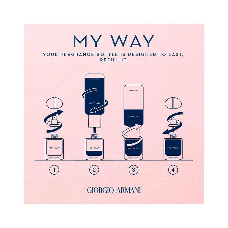 Armani My Way Intense Eau De Parfum Recarga 150 ml