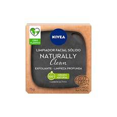 Nivea Naturally Clean Jabón Exfoliante Facial Carbón 75 gr