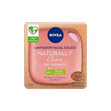 Nivea Naturally Clean Jabón Exfoliante Facial Radiante 75 gr