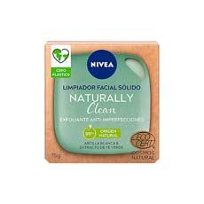 Nivea Naturally Clean Jabón Exfoliante Facial Anti-imperfecciones 75 gr