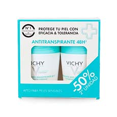 Vichy Antitranspirante 48 horas Desodorante Duplo 2 x 50 ml